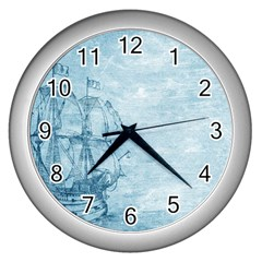 Sail Away   Vintage   Wall Clock (silver) by WensdaiAddamns