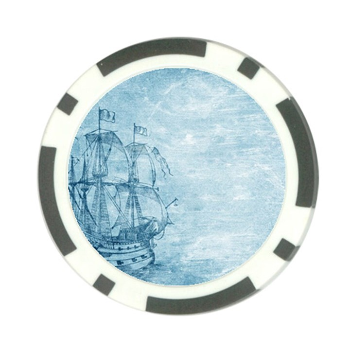 Sail Away - Vintage - Poker Chip Card Guard (10 pack)
