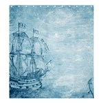 Sail Away - Vintage - Shower Curtain 66  x 72  (Large)  58.75 x64.8  Curtain