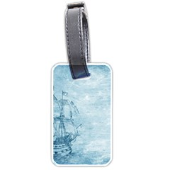 Sail Away   Vintage   Luggage Tags (one Side)  by WensdaiAddamns