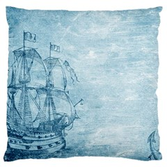 Sail Away   Vintage   Large Cushion Case (two Sides) by WensdaiAddamns