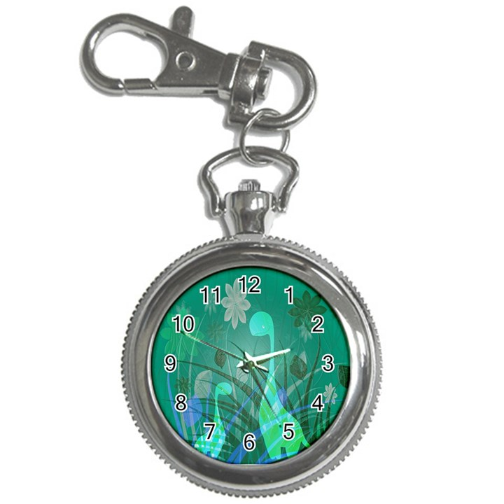 Dinosaur Family - Green - Key Chain Watches