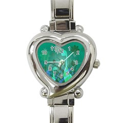 Dinosaur Family   Green   Heart Italian Charm Watch by WensdaiAddamns