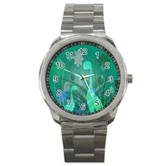 Dinosaur Family   Green   Sport Metal Watch by WensdaiAddamns