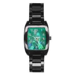 Dinosaur Family   Green   Stainless Steel Barrel Watch by WensdaiAddamns