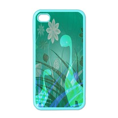 Dinosaur Family   Green   Apple Iphone 4 Case (color) by WensdaiAddamns