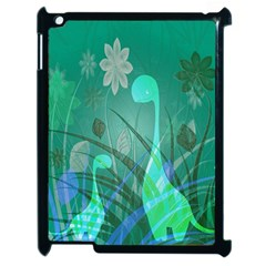 Dinosaur Family   Green   Apple Ipad 2 Case (black)