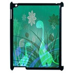 Dinosaur Family - Green - Apple iPad 2 Case (Black) Front