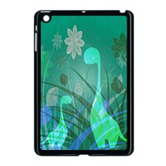 Dinosaur Family   Green   Apple Ipad Mini Case (black) by WensdaiAddamns