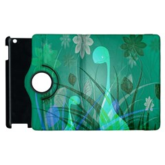 Dinosaur Family   Green   Apple Ipad 3/4 Flip 360 Case by WensdaiAddamns