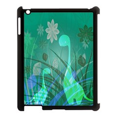 Dinosaur Family   Green   Apple Ipad 3/4 Case (black) by WensdaiAddamns
