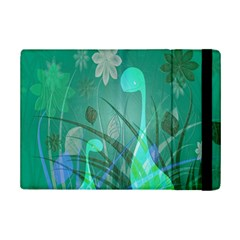 Dinosaur Family   Green   Ipad Mini 2 Flip Cases