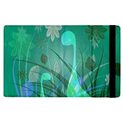 Dinosaur Family   Green   Apple Ipad Pro 9 7   Flip Case by WensdaiAddamns