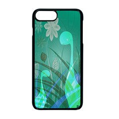 Dinosaur Family   Green   Apple Iphone 7 Plus Seamless Case (black) by WensdaiAddamns