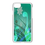 Dinosaur Family - Green - Apple iPhone 7 Seamless Case (White) Front