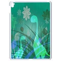 Dinosaur Family   Green   Apple Ipad Pro 9 7   White Seamless Case by WensdaiAddamns