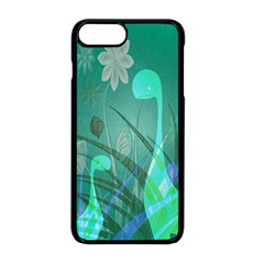 Dinosaur Family   Green   Apple Iphone 8 Plus Seamless Case (black) by WensdaiAddamns