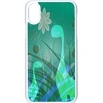 Dinosaur Family - Green - Apple iPhone X Seamless Case (White) Front