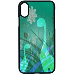 Dinosaur Family   Green   Apple Iphone X Seamless Case (black) by WensdaiAddamns