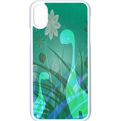 Dinosaur Family   Green   Apple Iphone Xs Seamless Case (white) by WensdaiAddamns