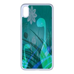 Dinosaur Family   Green   Apple Iphone Xs Max Seamless Case (white) by WensdaiAddamns