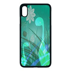 Dinosaur Family   Green   Apple Iphone Xs Max Seamless Case (black) by WensdaiAddamns