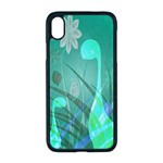Dinosaur Family - Green - Apple iPhone XR Seamless Case (Black) Front