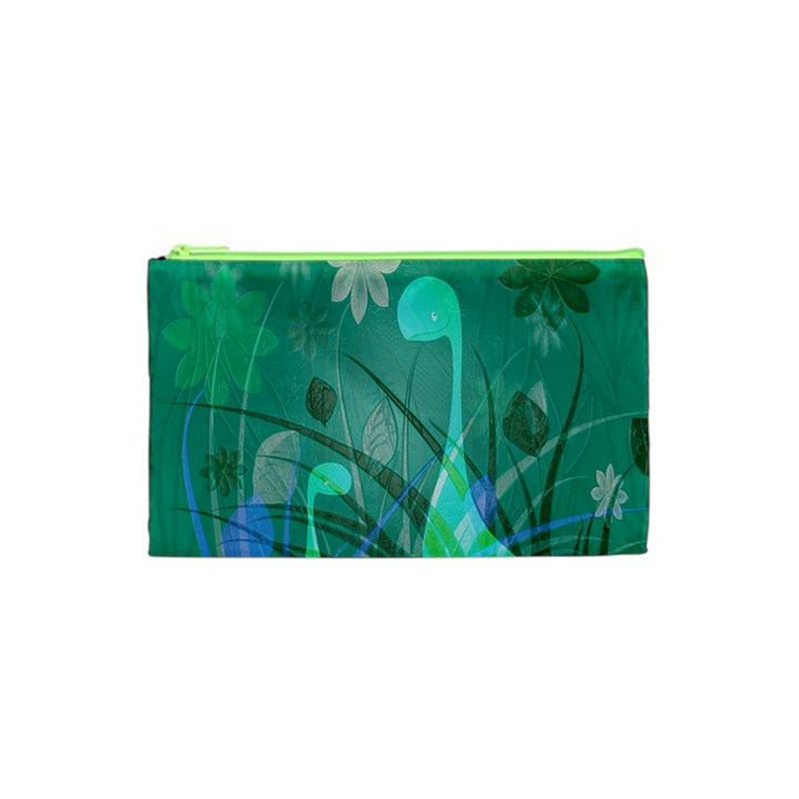 Dinosaur Family - Green - Cosmetic Bag (XS)