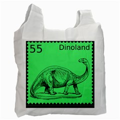 Dinoland Stamp   Recycle Bag (two Side) by WensdaiAddamns
