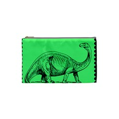 Dinoland Stamp   Cosmetic Bag (small) by WensdaiAddamns