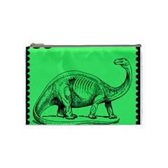 Dinoland Stamp   Cosmetic Bag (medium) by WensdaiAddamns