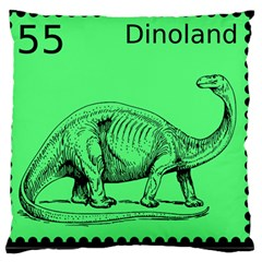 Dinoland Stamp   Standard Flano Cushion Case (two Sides) by WensdaiAddamns