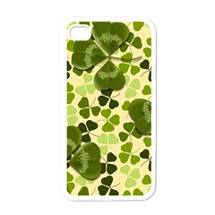 Drawn To Clovers Apple Iphone 4 Case (white) by WensdaiAddamns
