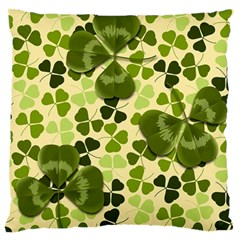 Drawn To Clovers Large Flano Cushion Case (two Sides) by WensdaiAddamns