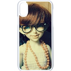 Red Braids Girl Old Apple Iphone X Seamless Case (white)