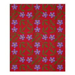 Red With Purple Flowers Shower Curtain 60  X 72  (medium)
