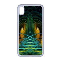 Fractal Jwildfire Scifi Apple Iphone Xr Seamless Case (white)