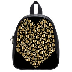 Colorful Prismatic Chromatic Heart School Bag (small)
