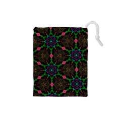 Backgrounds Pattern Wallpaper Color Drawstring Pouch (small)