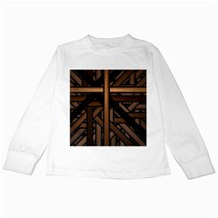 Fractal Pattern Texture Design Kids Long Sleeve T Shirts by Pakrebo