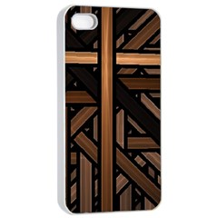Fractal Pattern Texture Design Apple Iphone 4/4s Seamless Case (white)