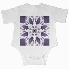 Fractal Floral Pattern Decorative Infant Creepers