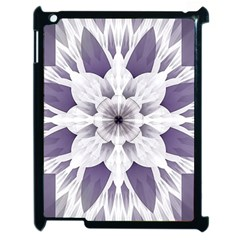 Fractal Floral Pattern Decorative Apple Ipad 2 Case (black)
