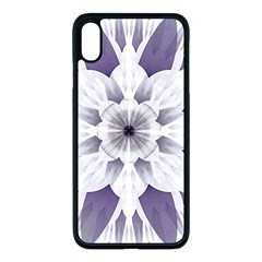 Fractal Floral Pattern Decorative Apple Iphone Xs Max Seamless Case (black)