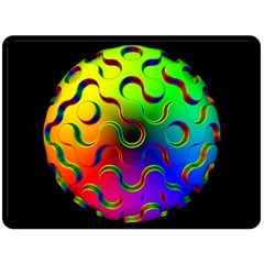 Ball Sphere Digital Art Fractals Fleece Blanket (large)