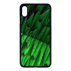 Fractal Rendering Background Green Apple Iphone Xs Max Seamless Case (black)
