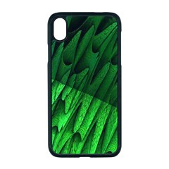 Fractal Rendering Background Green Apple Iphone Xr Seamless Case (black)