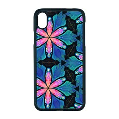 Ornament Digital Color Colorful Apple Iphone Xr Seamless Case (black)
