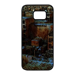 Building Ruins Old Industry Samsung Galaxy S7 Edge Black Seamless Case