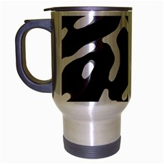 Giant Bold Dark Geometric Print Travel Mug (silver Gray)
